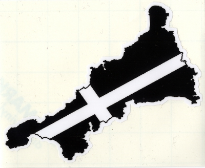 Comwall Design Decals : Cornwall Map/Flag Sticker  Cornish Flag  The Cornish T Shirt Factory